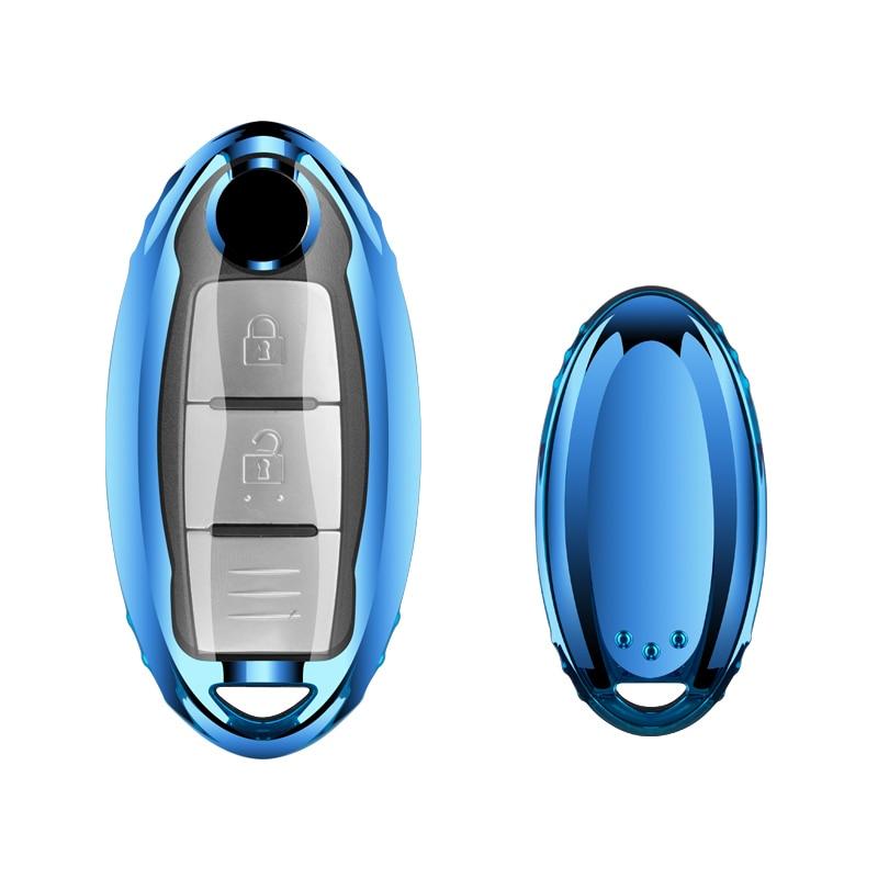 Tpu macio caso chave do carro chaveiro para nissan teana qashqai juke chave saco capa fob estilo do carro auto decoração acessórios