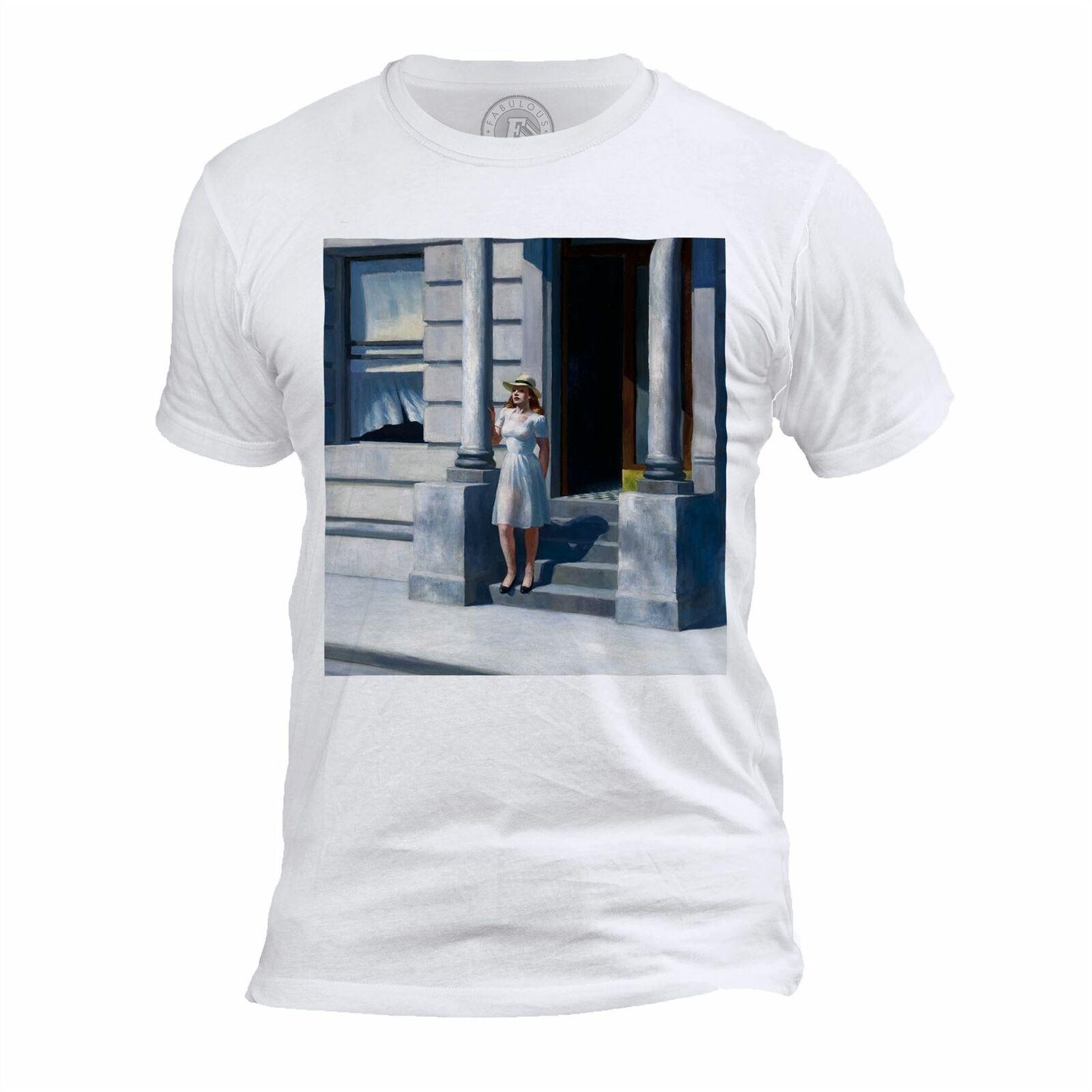 T camisa Homme Col Rond verano Edward Hopper Peinture Realisme Amerique