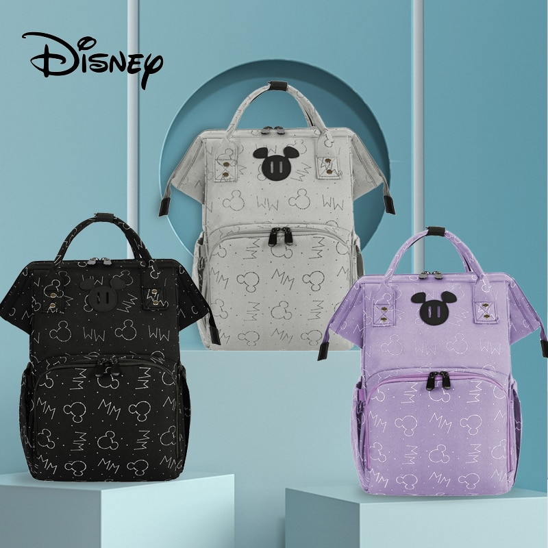 Disney Mickey Mouse USB Mummy Maternity Diaper Bags Large Capacity Baby Organizer Travel Baby Care Bag Mom Diaper Bag Backpack disney mickey mouse diaper bag waterproof baby care mummy bag maternity backpack large nappy bag oxford cloth baby bag
