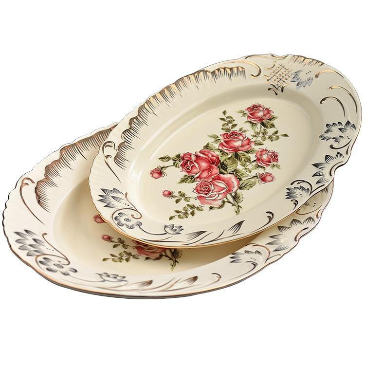 European ceramic plate plate household Western dish combination soup dish dish set ceramic bowl plate