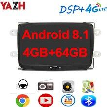YAZH 4GB 64GB unité de voiture multimédia pour Dacia/ Renault Sandero/Duster/Logan/Captur/ Lada Xary GPS Radio Navigation Bluetooth 5.0