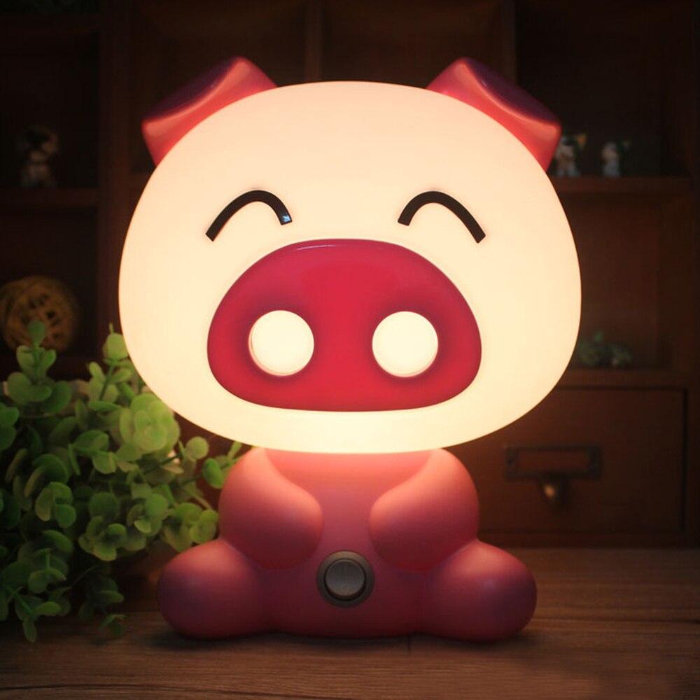 Cartoon Night Light Baby Room Kids Bed Sleeping Night Lamp Decoration Table Lamp