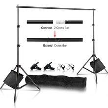 Fotografie Hintergrund Hintergrund Stand Unterstützung Bild Leinwand Rahmen System Kit Mit Tragen Fall Für Muslin Foto Video Studio
