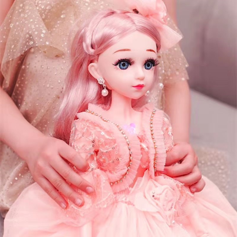 60cm BJD Doll with Princess Clothes Accessories Movable Jointed 1/3 Dolls Wedding Gown Dress Toys for Girls Gift