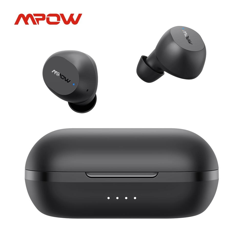 Mpow-سماعة رأس بلوتوث لاسلكية M12 TWS ، iPX8 ، وقت تشغيل 25 ساعة ، شحن USB C ، لهاتف iPhone 11 X Xiaomi Huawei