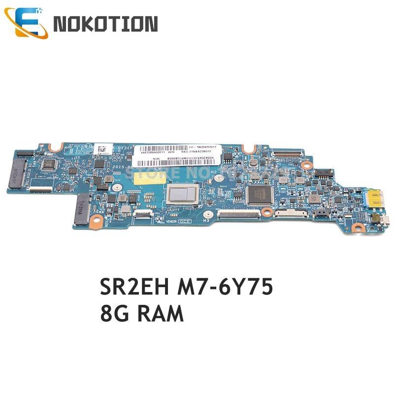 NOKOTION 5B20K57017 BIZY1 LA-D131P Für Lenovo Yoga 700-11isk 11,6 zoll laptop motherboard SR2EH M7-6Y75 CPU 8G top ein