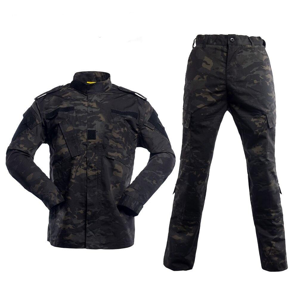 BDU camuflaje táctico uniforme militar Multicam negro ejército ropa combate camisa pantalones Airsoft francotirador camuflaje ropa de caza