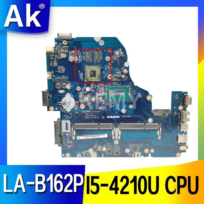 Akemy لشركة أيسر أسباير E1-572 E1-572G اللوحة المحمول Z5WAH LA-B162P NBMLC11004 الرئيسي مجلس I5-4210U CPU HM86 820M gpu DDR3L