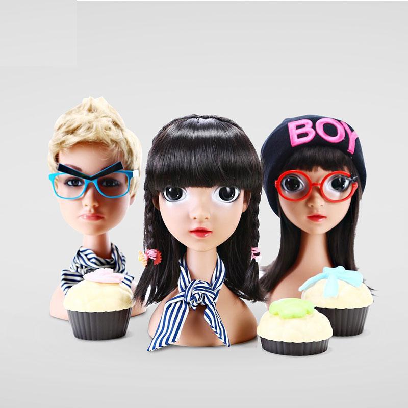 Realistic Boy Girl Children Mannequin Manikin Head for Wig Hats Display Show Stand Model Mannequins