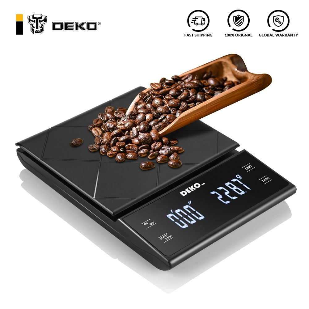 DEKO Digital Coffee Scale Weighting Instrument Electronic Balance LED Display High Precision with Ti