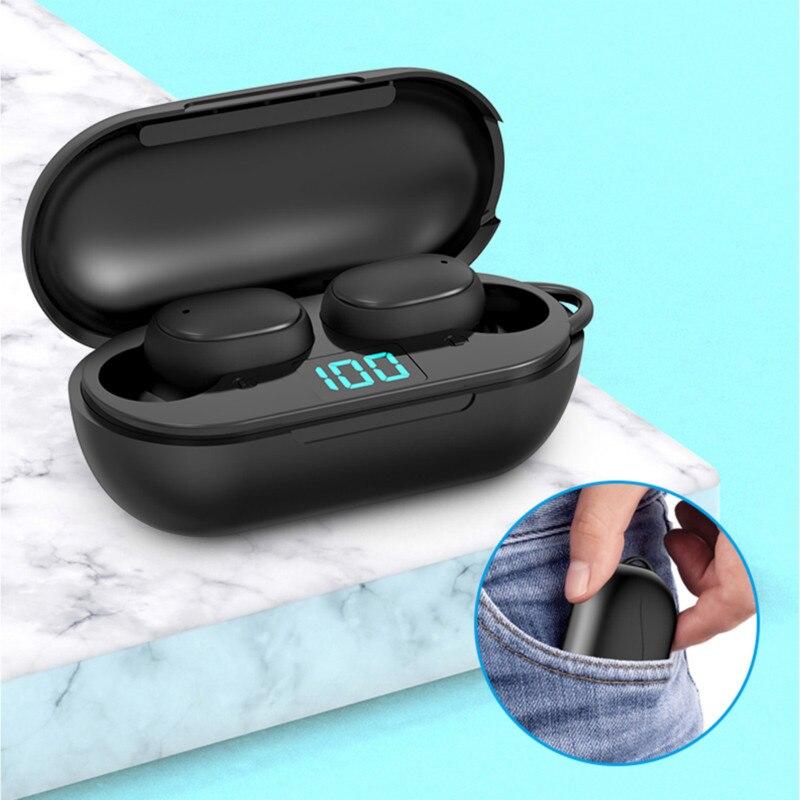 Auriculares TWS Twins Bluetooth 5,0, auriculares estéreo LED para hombre, miniauriculares deportivos 2019, nuevos auriculares inalámbricos, auriculares