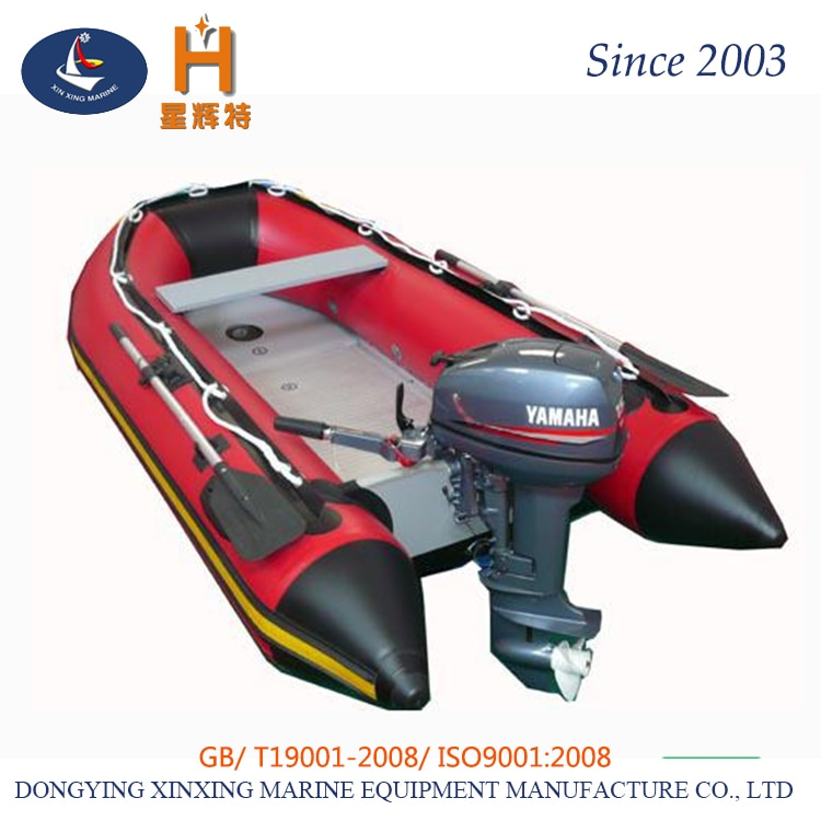270 سنتيمتر شعبية قارب قابل للنفخ من البلاستيك الألومنيوم أسفل للبيع