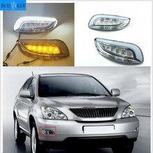 1 zestaw LED światła dzienne na akcesoria samochodowe 2003 ~ 2009 roku Lexus RX350 RX330 przednie światło przeciwmgłowe drl światło na zderzak