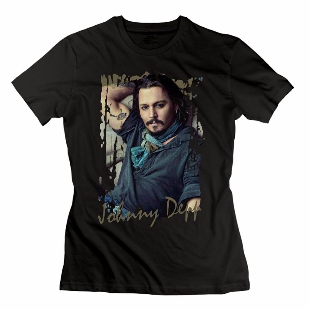 Camisas de manga curta de compressão de manga curta para homem clássico johnny depp t