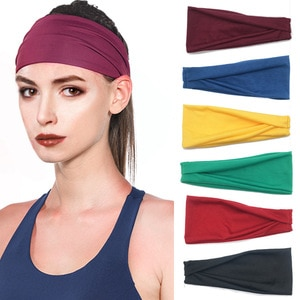 Sports Hair Bands For Men And Women Running Fitness Sweat Absorbing Yoga Solid Color Elastic Headband Hair Accessories