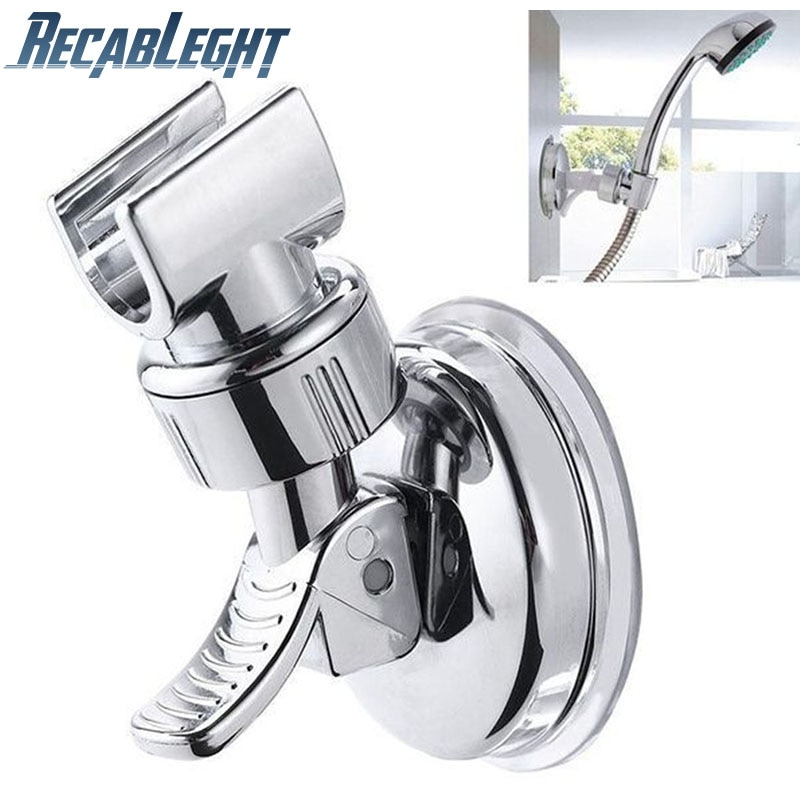 Universal Adjustable Hand Shower Holder Suction Cup Holder Full Plating Shower Rail Head Holder Bathroom Bracket Stable rotation