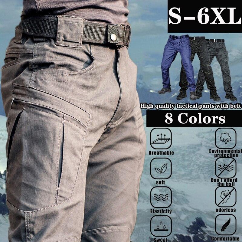 Брюки-карго мужские водонепроницаемые, тактические штаны в стиле милитари, особая Боевая тактика, износостойкие тренировочные штаны в стил...
