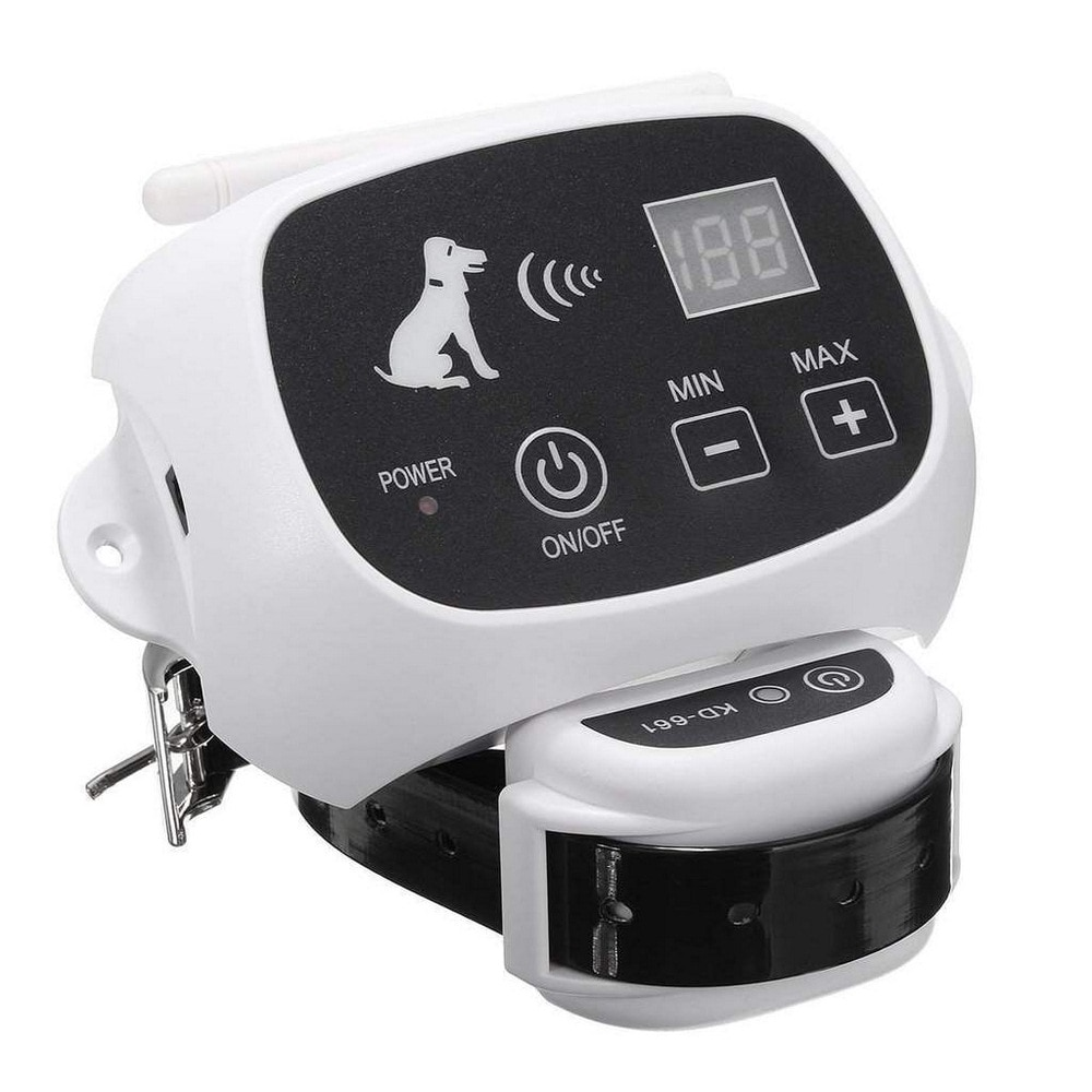 Sistema de cerca remota inalámbrico para perros a prueba de agua para mascotas 0-100 nivel equipo de cerca electrónica Collar de entrenamiento para perros descarga eléctrica