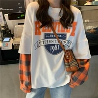100 cotton t shirts women 2021 summer short sleeve korean loose t shirt female student harajuku style fashion clothes ins tide