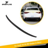Carbon Fiber Rear Trunk Boot Lip Spoiler Wing Lip for Audi A4 Sline S4 B9 2017 - 2019