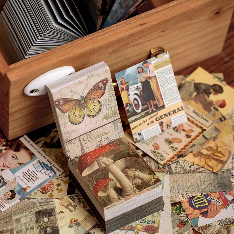 AliExpress - Journamm 400pcs Vintage Van Gogh Butterfly Litmus Kraft Card Deco Stationery LOMO Cards Stationery Notepad School Sticky Notes