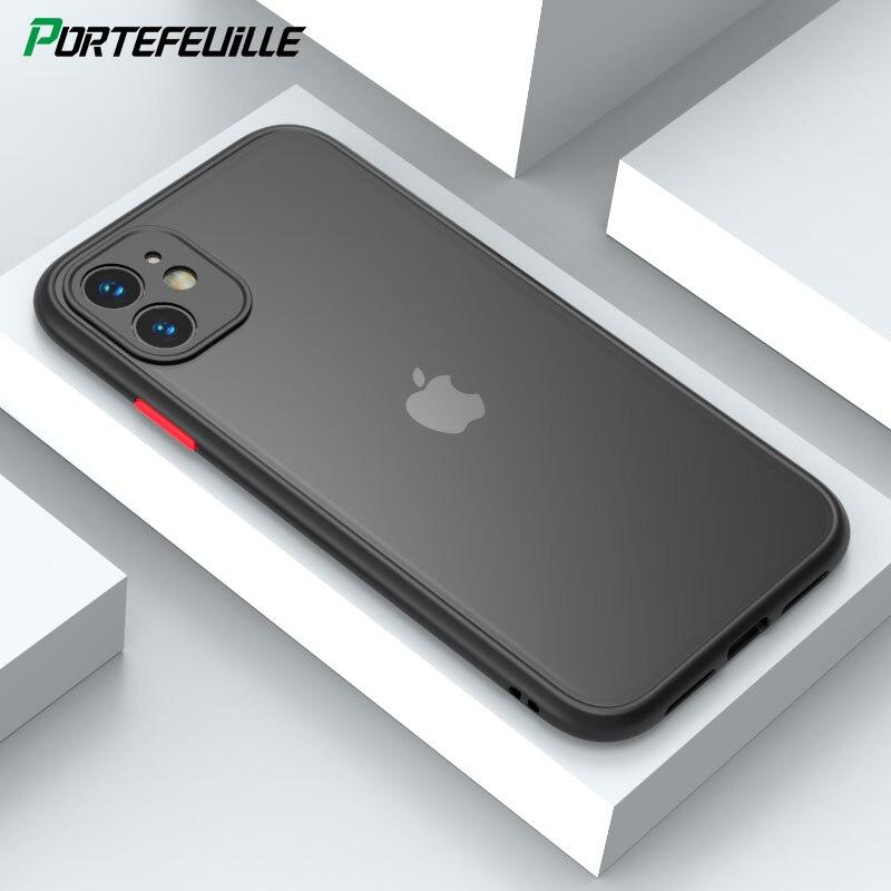 Funda de teléfono mate de protección de cámara para Apple iPhone 11 Pro Max X XS XR 8 Plus 7 6S SE 2 2020 SE2 funda de silicona a prueba de golpes Coque