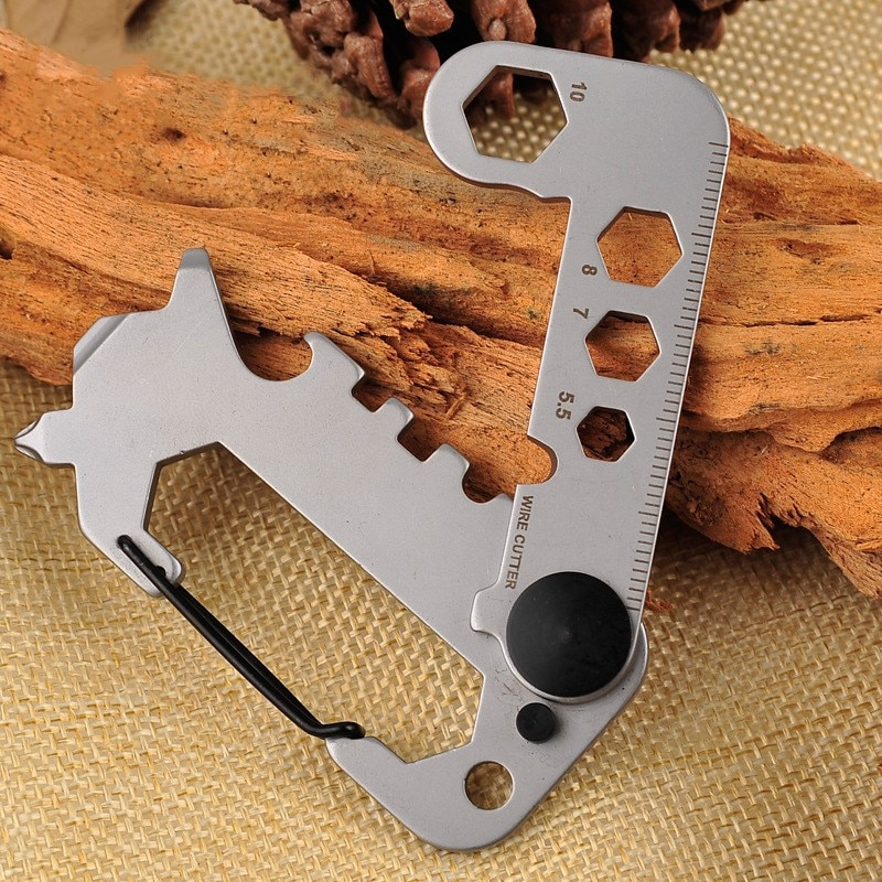 420 Stainless Steel Self Defense Tool Multifunctional Tool Angle Wrench / Screwdriver / Opener Survival Kit Camping EDC Gear