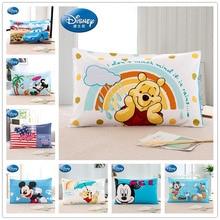 Disney 100% coton oreiller imposture pour garçons chambre Winnie lourson taie doreiller couvre 3d imprimé literie bébé filles jaune bleu