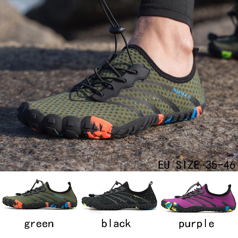 Zapatos de moda de verano para hombre, zapatillas de playa transpirables, zapatos para mujer, sandalias de natación, calcetines de buceo Masculino