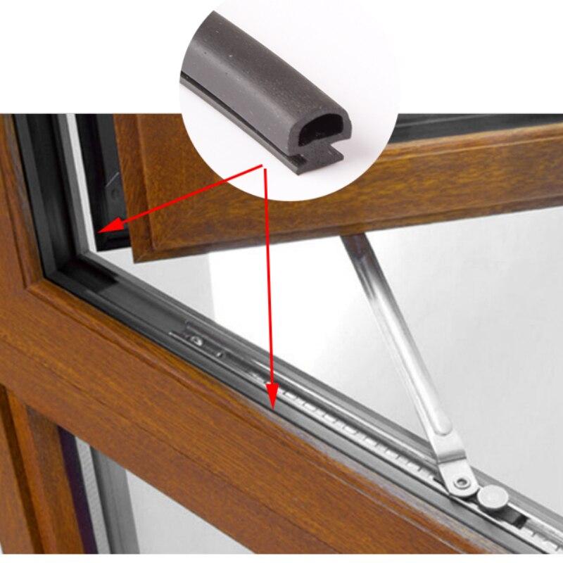 Tiras de sellado de anchura inferior EPDM de 5/6/7mm Puerta de aluminio/ventana de plástico sellado tiras de ahorro de energía ventanas y puertas