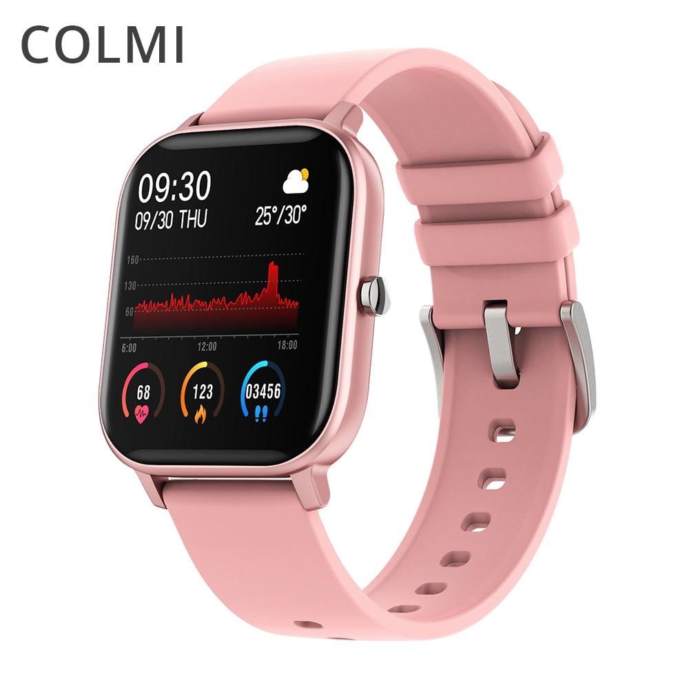 COLMI P8 Smart Watch Women Full Touch Fitness Tracker 7 Days Battery Life Waterproof Smartwatch men GTS for Xiaomi phone iPhone