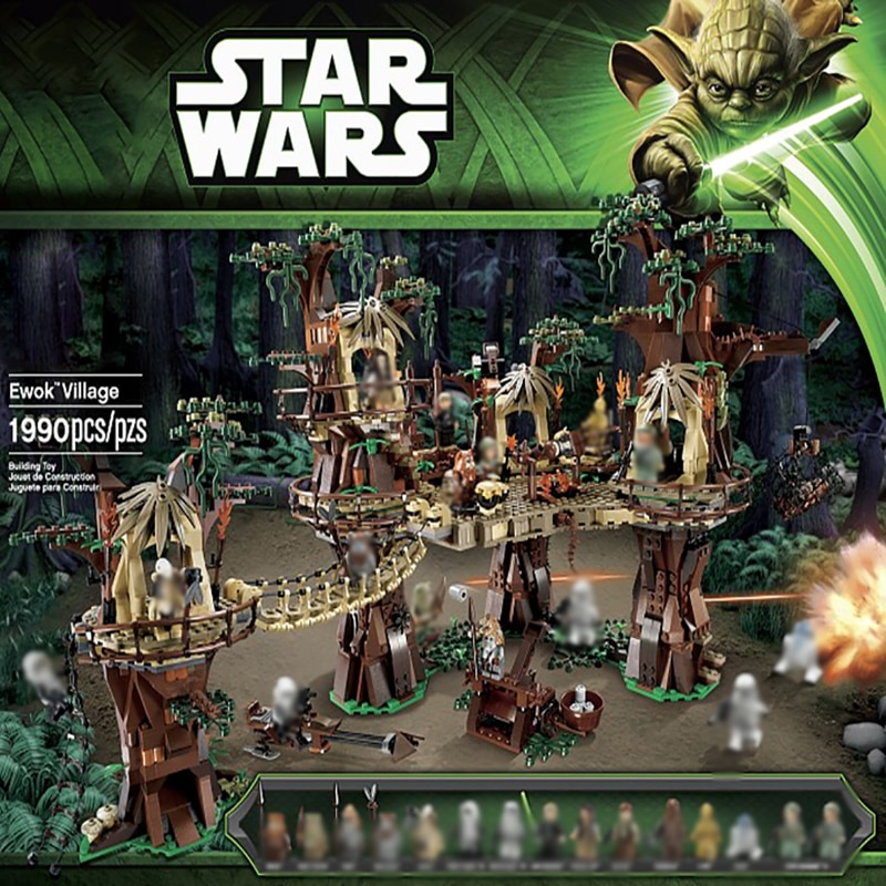 Lepining 10236, 05047 DE 1990 Uds estrella Plan guerras Ewok Village Juguetes de bloques de construcción ladrillos para niños cumpleaños regalo DIY