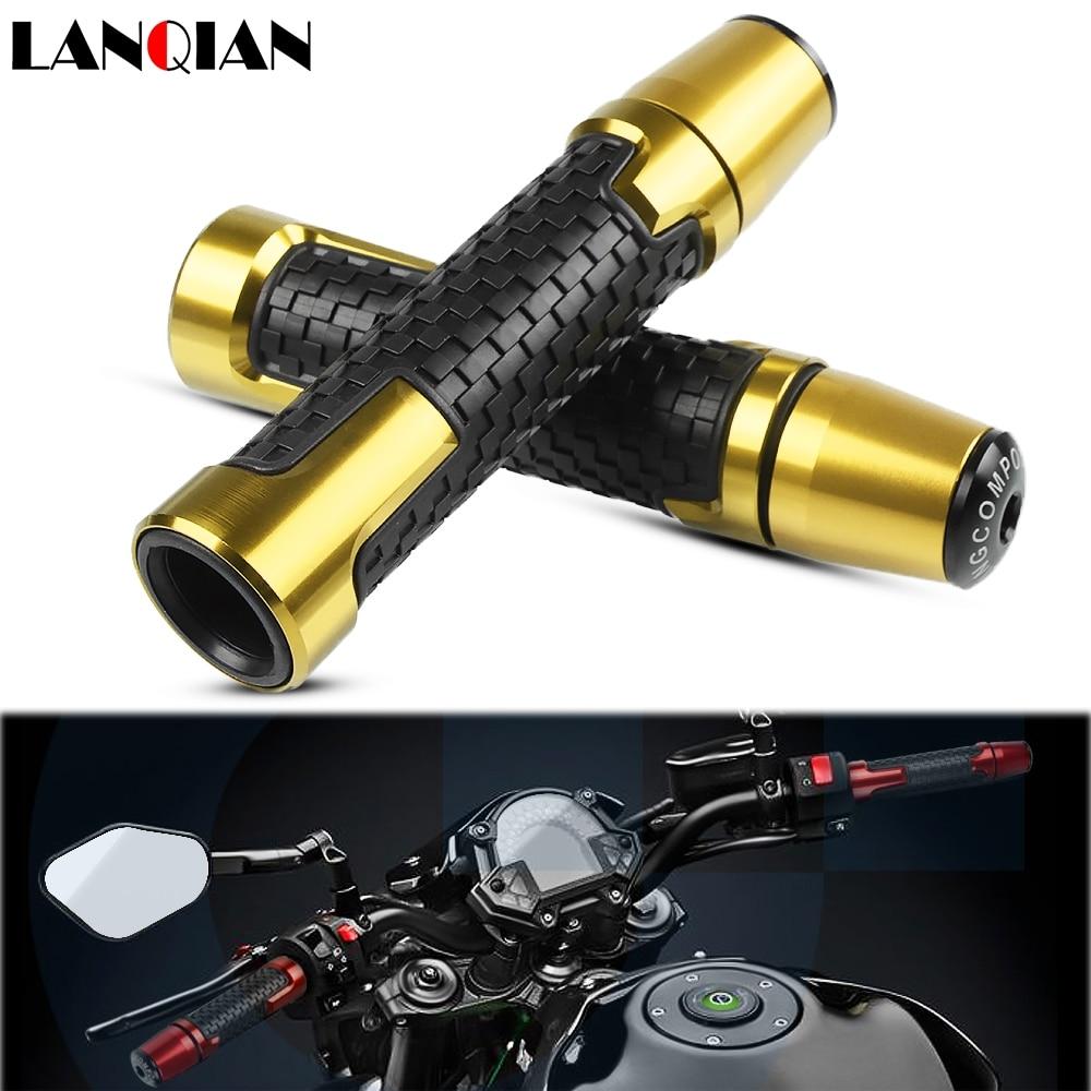 Empuñadura antideslizante para motocicleta de 7/8 pulgadas con mango extremo CNC 22mm para suzuki gs 500 cbr 250r benelli tnt 125 bandido xt 600