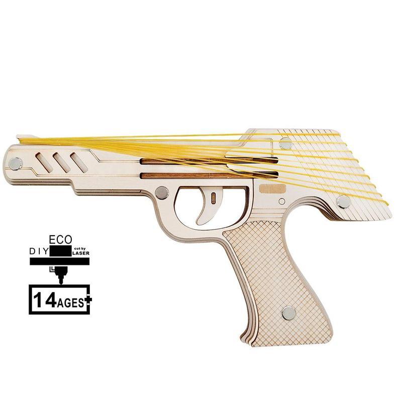 古典的な木製モデル拳銃ゴム弾ゴムバンドランチャー木製ゴムバンド銃キッズ楽しい屋外ゲームおもちゃ少年ギフト