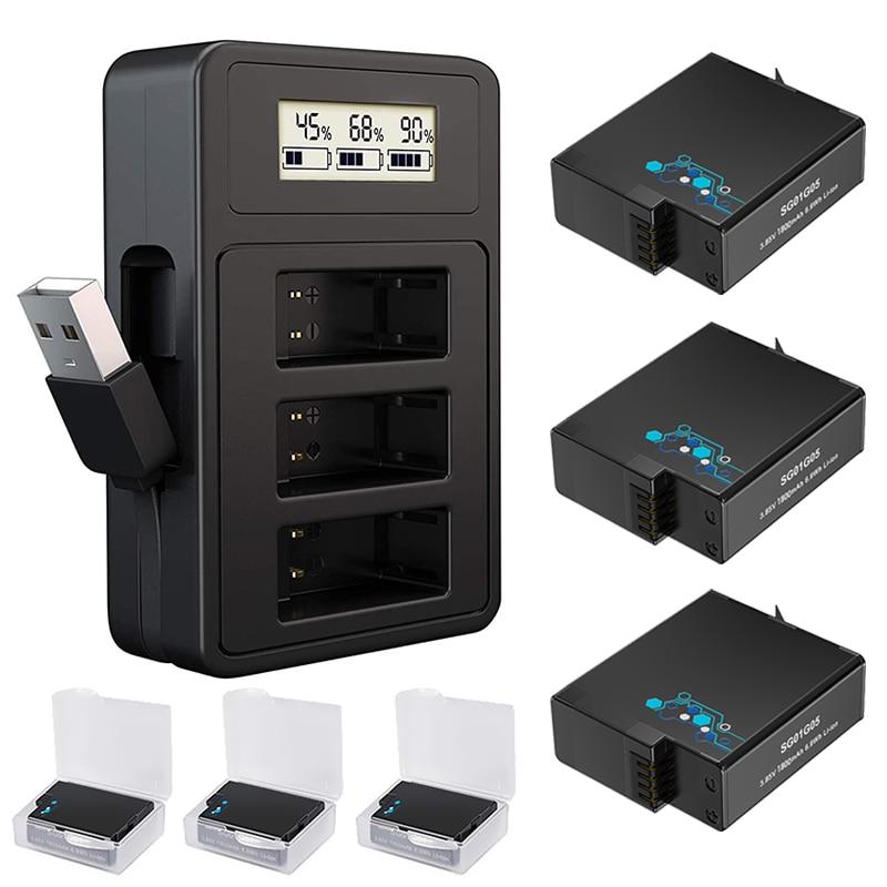 Зарядное устройство для Gopro, для GoPro Hero 8, Hero 7, Hero 6, hero 5, черный