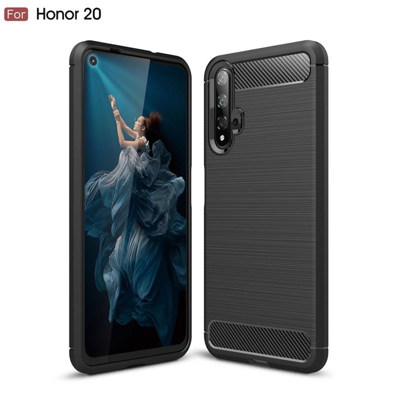 Macio matte silicone caso de telefone para huawei honor 20 tpu fina capa traseira para honra 20pro anti-kronck caso protetor para honra v20