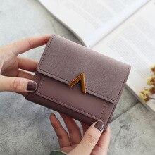 ใหม่ผู้หญิงกระเป๋าสตางค์สั้นผู้หญิงกระเป๋าสตางค์เหรียญผู้ถือบัตรสุภาพสตรีขนาดเล็กกระเ...