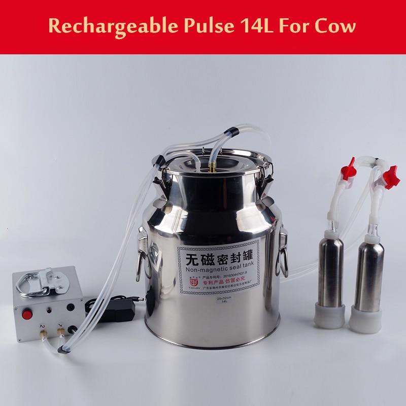 Cow Breast Vacuum Pulse Milking Machine Stainless Steel Head Capacity For Sheep enlarge