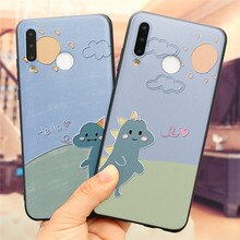Cute Emboss Cartoon Dinosaur Case For Huawei Honor 30S View 30 8X 9X 10i 10 20 Lite Nova5t Y7P Y6 Y7 Pro Y9 Prime 2019 2018 Caso