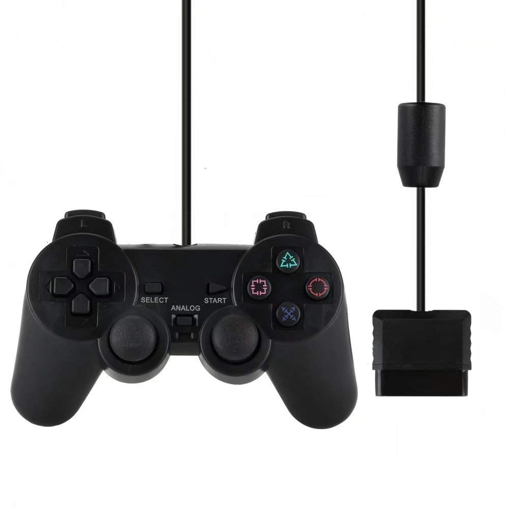 Wired Gamepad for Sony PS2 Controller for Mando PS2/PS2 Joystick for playstation 2 Vibration Shock Joypad Wired USB PC Controle wired gamepads for sony ps2 controller for mando ps2 ps2 joystick for plasystation 2 double vibration shock joypad геймпад game