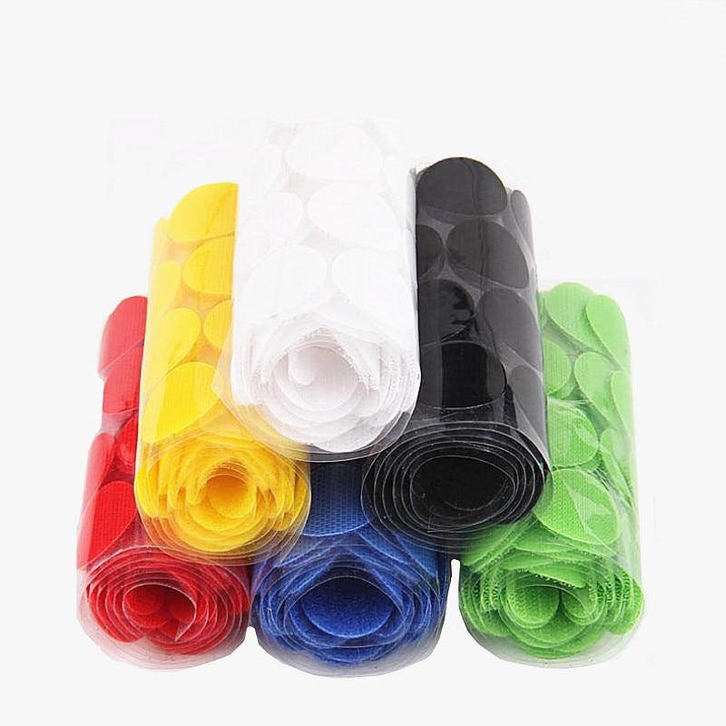 Crochets auto-adhésifs multicolores de 10mm, 99 paires, crochets et boucles à pois ronds en Nylon, autocollant magique, crochets de couture, accessoires
