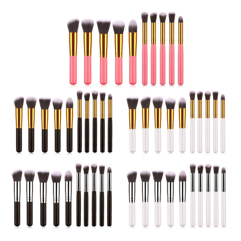 2020 New 10pcs Makeup Brushes Set For Foundation Powder Blusher Lip Eyebrow Eyeshadow Eyeliner Brush Wooden Handle Cosmetic Tool