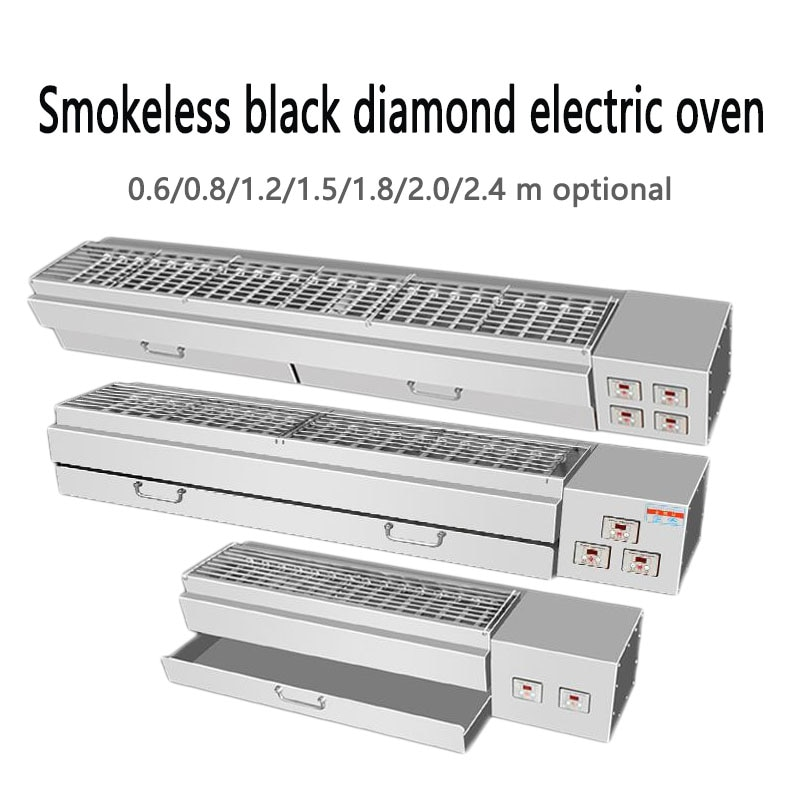 Churrasco forno elétrico comercial sem fumaça espeto eletromecânico quente churrasqueira fogão elétrico grill