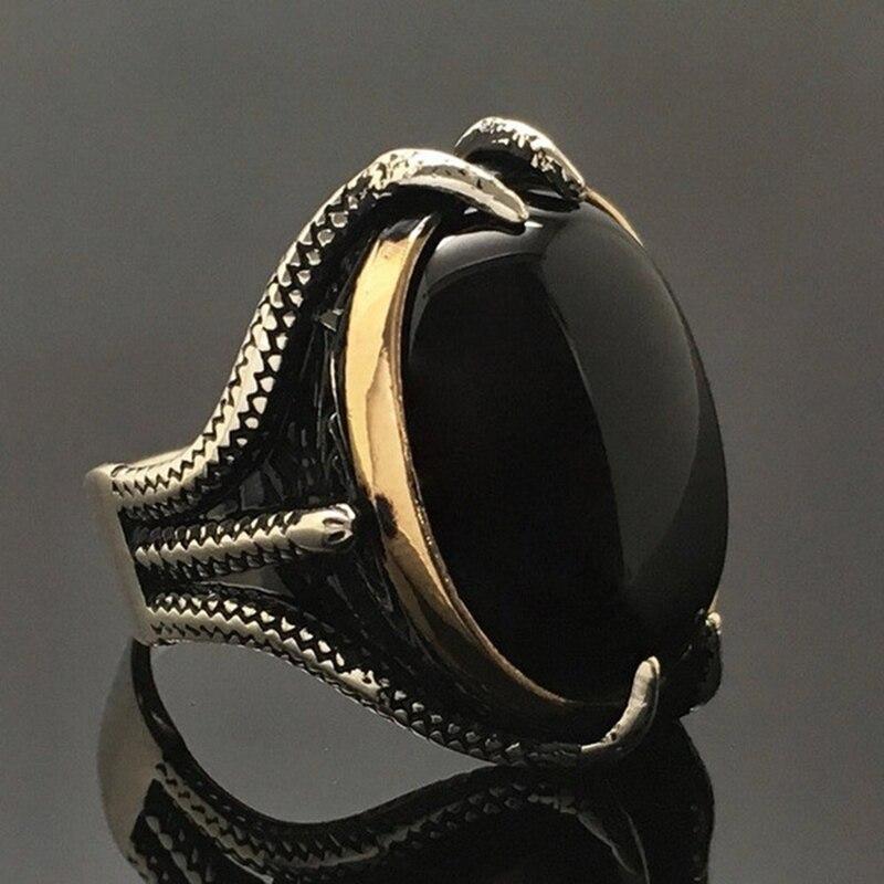 Простое винтажное мужское двуцветное кольцо в форме Орла для свадьбы, юбилея, вечерние ювелирные изделия, подарок