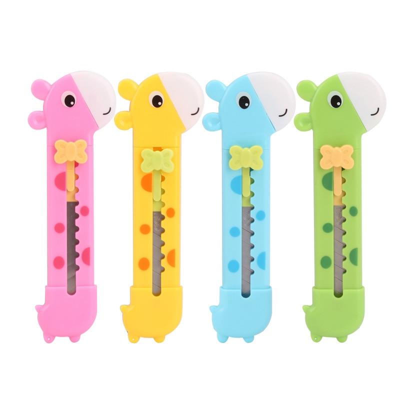 Милый канцелярский нож в форме жирафа резак для бумаги, резак для бумаги, лезвия для бритвы, офисные принадлежности, школьные принадлежност...