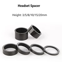 6 pieceset carbon bicycle headset spacer 358101520mm road mountain bike spacers kit front fork adjustment spacer