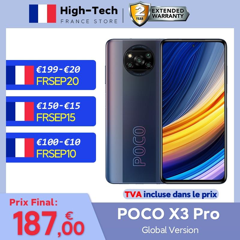 "POCO X3 Pro NFC Global Version Snapdragon 860 Smartphone 6.67"" 120Hz DotDisplay 48MP Quad AI Camera 5160 mAh 33w Charging NFC"