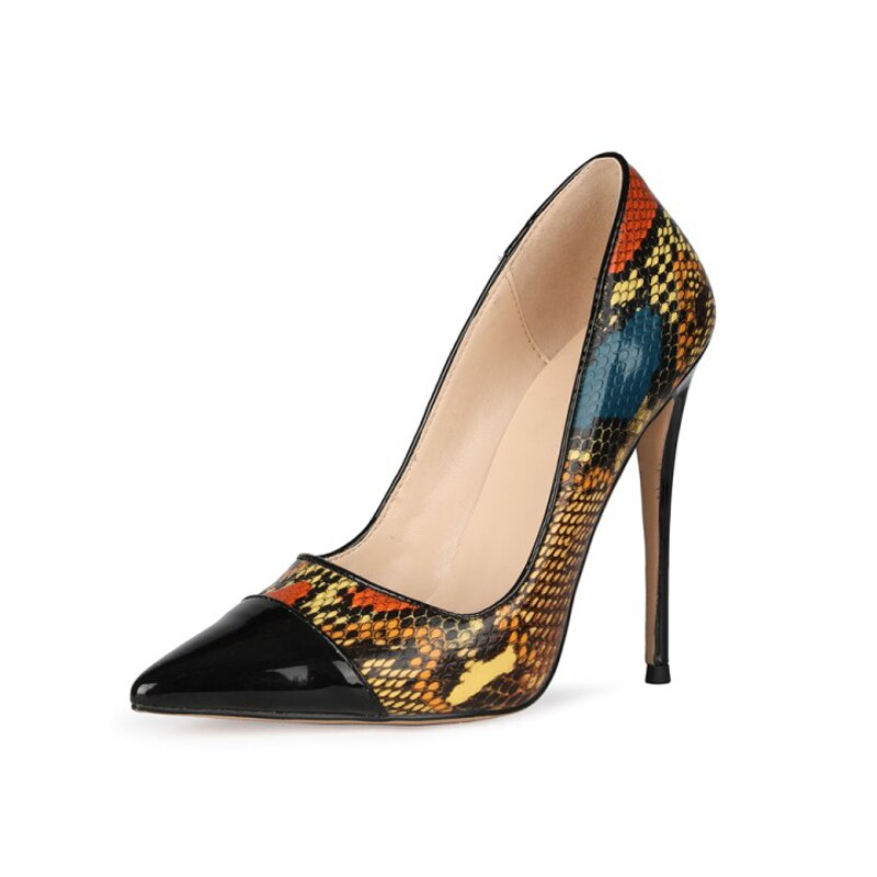 Snake pattern high heels spring and summer fashion ladies pointed sexy high heels stiletto dress par