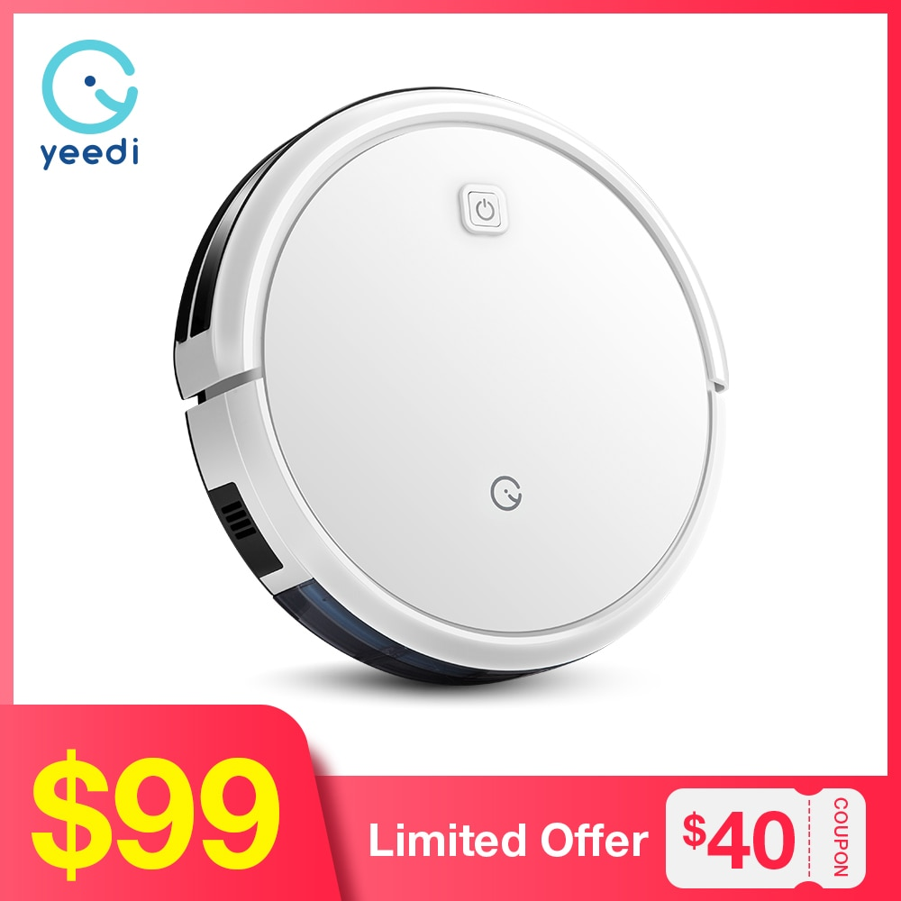 yeedi k600 Robot Vacuum Cleaner with 600ml Dustbin 1500Pa Suction Planned Route Auto Charge Wet and Dry Cleaning for Hard Floor