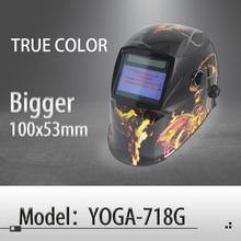 Auto darkening welding helmet/welding mask/MIG MAG TIG True Color/Real Color/4 arc sensor(Yoga-718G-PRO)